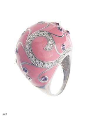 Кольцо Мастер Клио. Цвет: розовый, серебристый, белый, фиолетовый