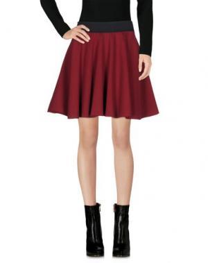 Мини-юбка ED 2.0. Цвет: красно-коричневый