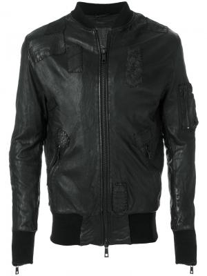 Классическая байкерская куртка Giorgio Brato. Цвет: чёрный