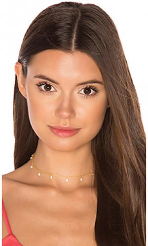 Чокер с опалом odessa Natalie B Jewelry. Цвет: металлический золотой