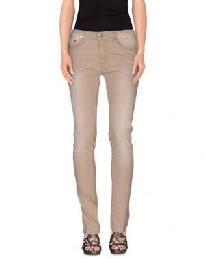 Джинсовые брюки APRIL 77. Цвет: песочный