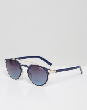 Black Phoenix Солнцезащитные очки с планкой. Цвет: темно-синий