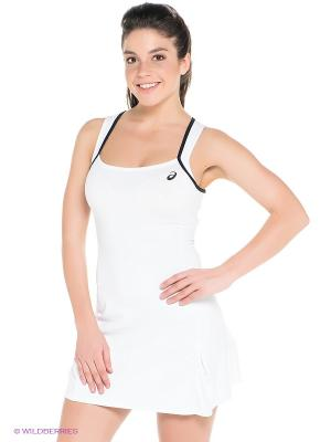 Платье Club Dress ASICS. Цвет: белый