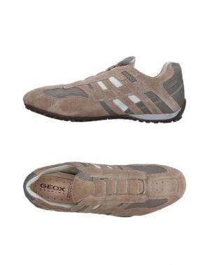Низкие кеды и кроссовки GEOX. Цвет: песочный
