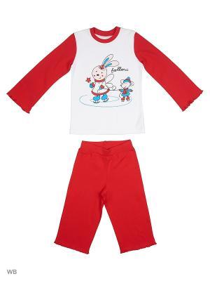 Пижама костюм ВАЛЕНТИНА СТИЛЬ. Цвет: красный