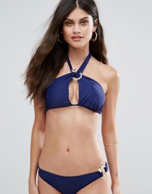 Forever Unique Темно-синий слитный купальник. Цвет: темно-синий