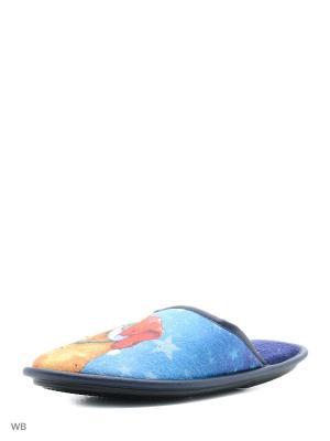 Тапочки BRIS. Цвет: синий