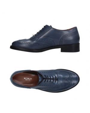 Обувь на шнурках STELE. Цвет: синий