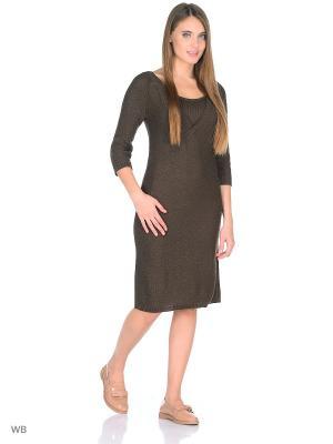 Платье для кормящих мам с V-вырезом Мирося