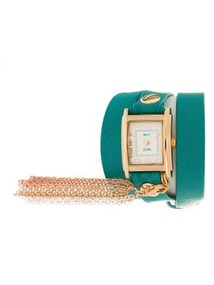 Часы La Mer Collections Charm Rainbow Tassle Dark Aqua Gold. Цвет: голубой