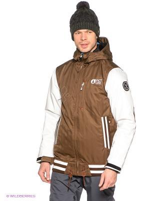 Куртка Picture Organic. Цвет: коричневый, белый