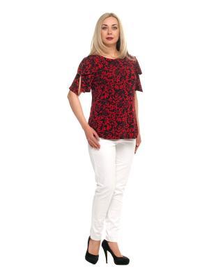 Блузка OLSI. Цвет: черный, бордовый