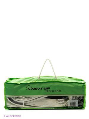 Сетка волейбольная с тросом Start Up. Цвет: зеленый