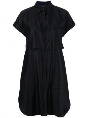 Многослойное платье-рубашка Rag & Bone. Цвет: чёрный