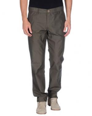 Повседневные брюки OLIVER SPENCER. Цвет: зеленый-милитари