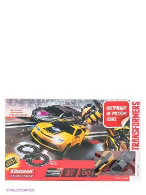 Автотрек Трансформеры на батарейках CARRERA. Цвет: красный, желтый, серый