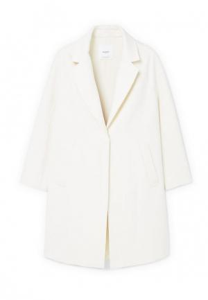 Пальто Mango. Цвет: белый