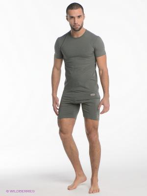 Термобелье-шорты Guahoo. Цвет: серо-зеленый