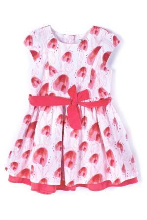 Платье Coccodrillo. Цвет: розовый, белый