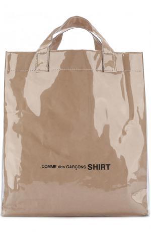 Сумка-тоут с плечевым ремнем Comme des Garcons. Цвет: бежевый