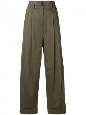 Широкие брюки Semicouture. Цвет: зелёный