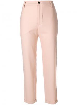 Классические укороченные брюки Barena. Цвет: розовый и фиолетовый