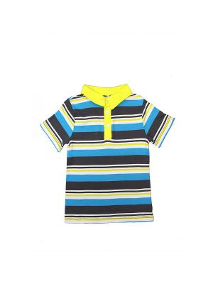 Футболка LAVIDO. Цвет: темно-серый, голубой, желтый, белый