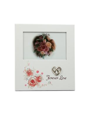 Фоторамка Красные розы Русские подарки. Цвет: белый