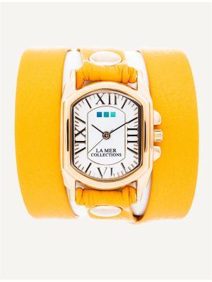 Часы La Mer Collections Charm Tassle Cornflowe. Цвет: желтый