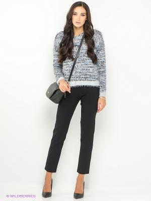 Пуловер ONLY. Цвет: голубой, серый
