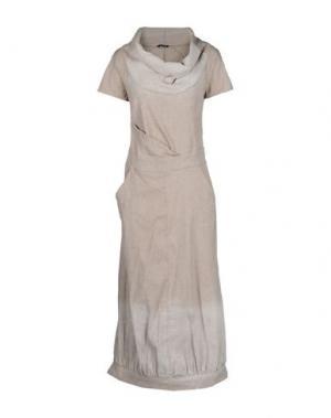 Длинное платье OBLIQUE CREATIONS. Цвет: бежевый