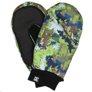 Варежки сноубордические DC Flag Mitt Travel Goods Shoes. Цвет: мультиколор