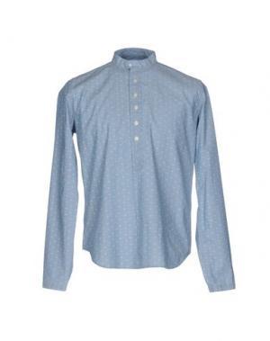 Pубашка SMITH'S AMERICAN. Цвет: небесно-голубой