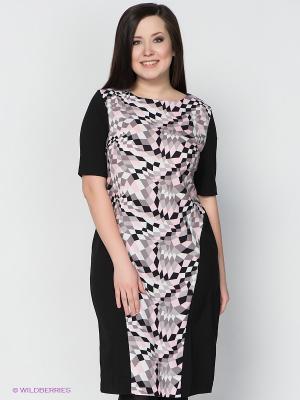 Платье LE MONIQUE. Цвет: черный, серый, розовый, белый