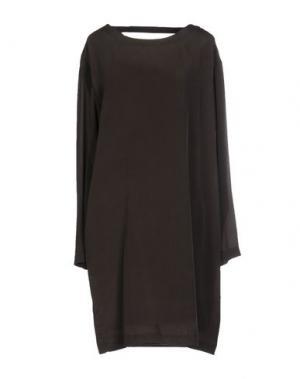 Короткое платье POMANDÈRE. Цвет: свинцово-серый