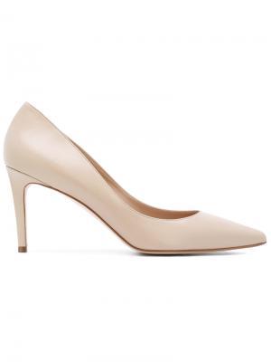 Туфли с заостренным носком Antonio Barbato. Цвет: телесный