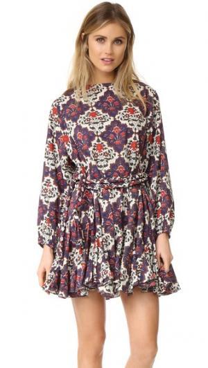 Платье с принтом Ella Rhode Resort. Цвет: фреска
