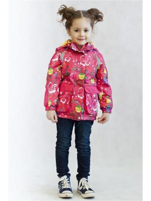 Куртка Oldos. Цвет: малиновый