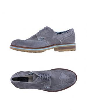 Обувь на шнурках LE CROWN. Цвет: серый