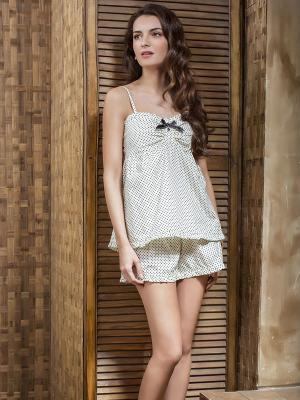 Пижама Laete. Цвет: черный, белый