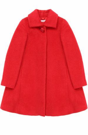 Шерстяное пальто свободного кроя I Pinco Pallino. Цвет: красный