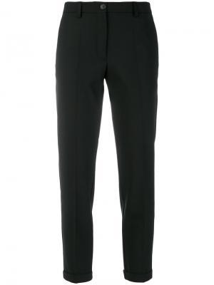 Классические укороченные брюки Mauro Grifoni. Цвет: чёрный