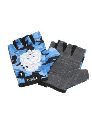 Перчатки спортивные Eleon. Цвет: серо-голубой, белый, серый