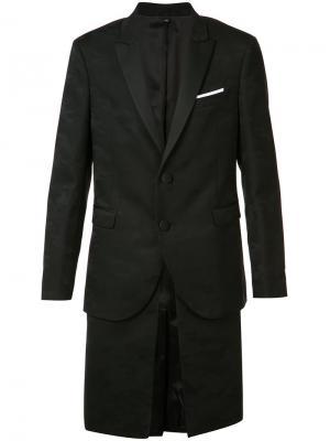 Многослойный пиджак с камуфляжным узором Neil Barrett. Цвет: чёрный