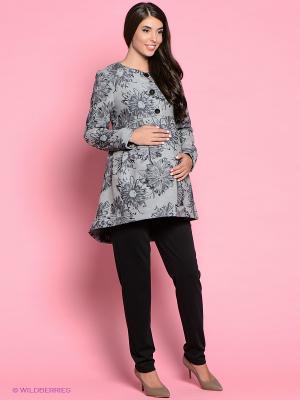 Пальто Trendy Tummy. Цвет: серый, черный
