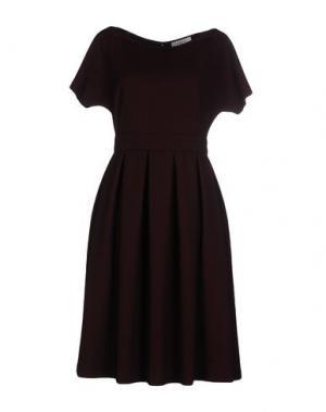 Платье до колена AXARA PARIS. Цвет: кирпично-красный