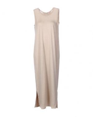 Длинное платье BARBON. Цвет: песочный