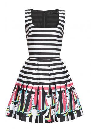 Платье из хлопка 167875 Paola Morena. Цвет: разноцветный