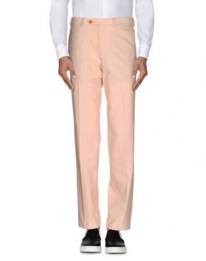 Повседневные брюки CANALI SPORTSWEAR. Цвет: лососево-розовый