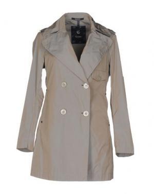 Легкое пальто CALVARESI. Цвет: светло-серый